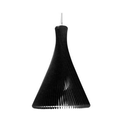 Exkluzív függesztett mennyezeti lámpa, keskeny, fekete - RONDO SLIM